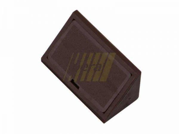 Уголок двойной пластиковый коричневые венге