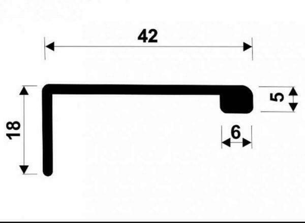 Ручка для рамочного профиля АДС P30, P34