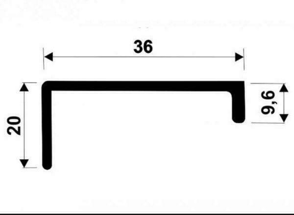 Ручка для рамочного профиля АДС P32, P33