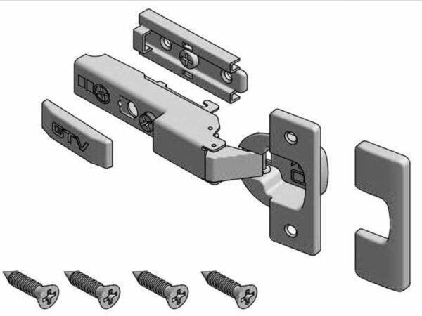 Петля мебельная GTV SOLID PRO полунакладная 3D с доводчиком ZM-DCHCB08-3DBEO