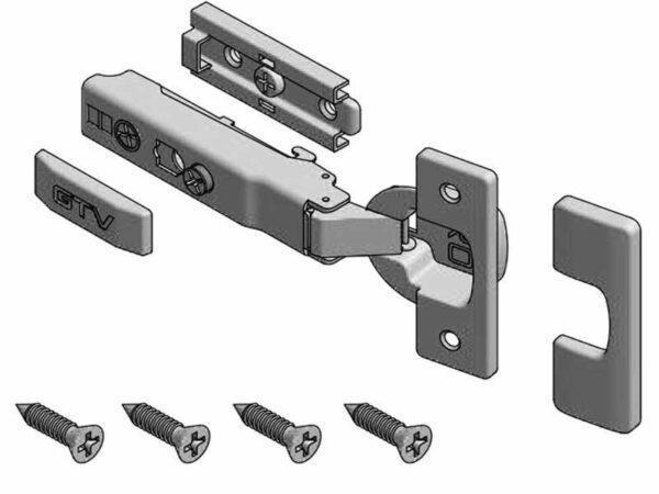 Петля мебельная GTV SOLID PRO накладная 3D с доводчиком ZM-DCHCB09-3DBEO